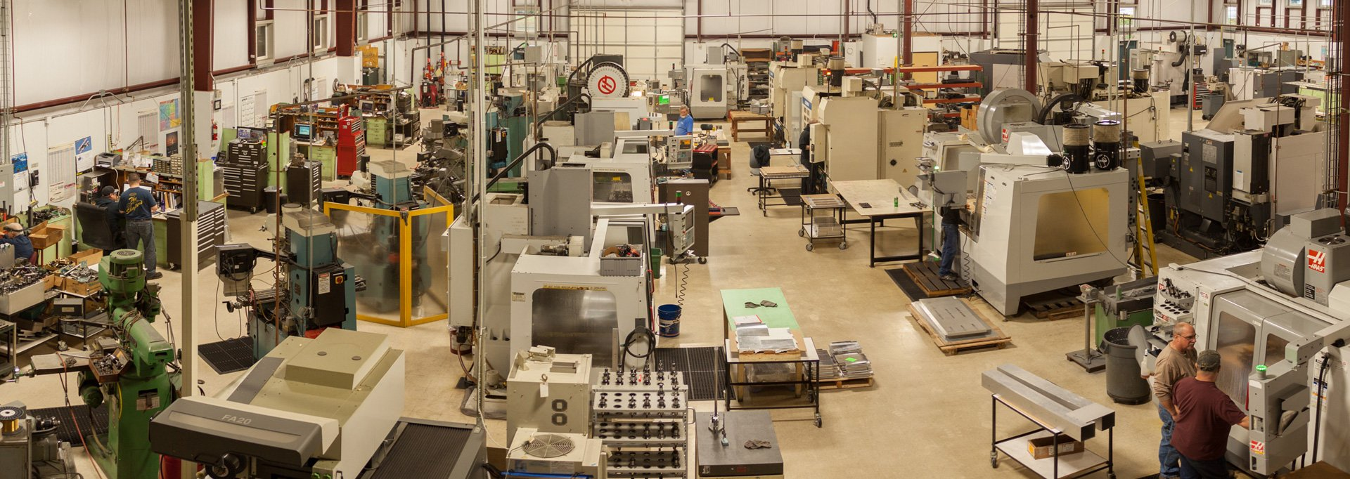 BDE Manufacturing Technologies CNC Machining Section