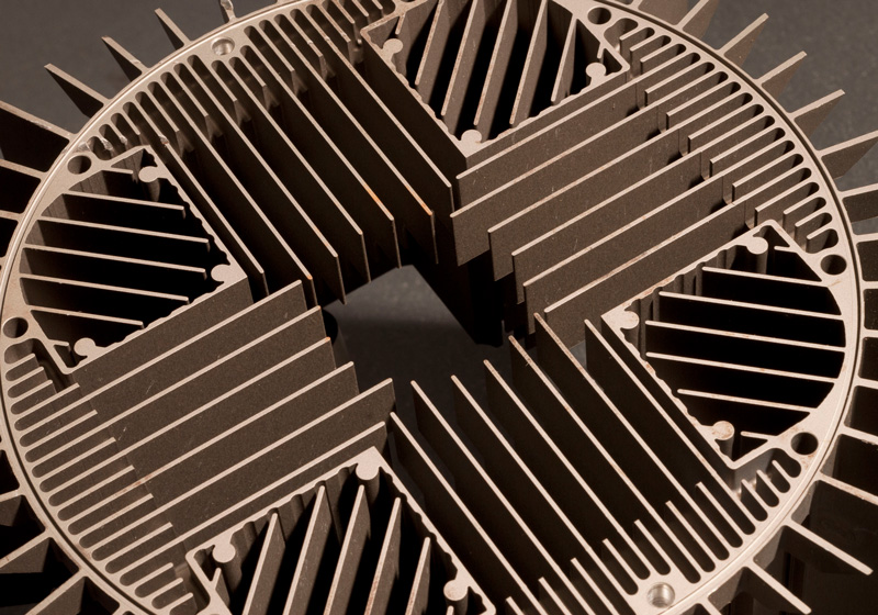 Heatsink done on our wire EDM